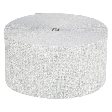 Elastikband 60 mm weiß-silber