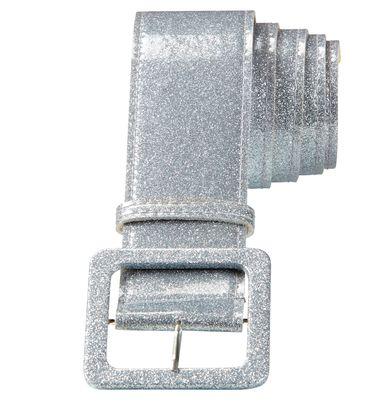 Glitzer-Gürtel silber