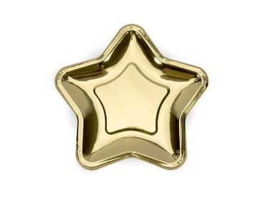 6 Papp-Teller Stern gold