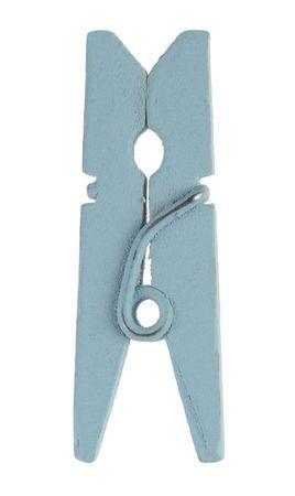 24 Mini-Holzklammern hellblau – Bild 1