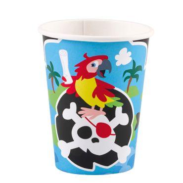 8 Becher Pirat