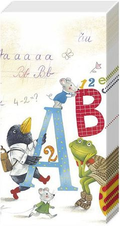 10 Taschentücher ABC in School Einschulung Schulanfang