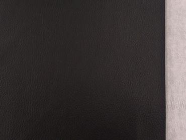 Kunstleder matt schwarz