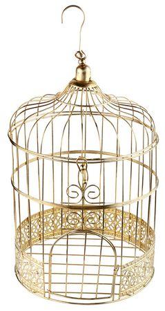 Deko Vogelkäfig gold – Bild 1