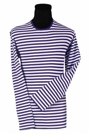 Ringel-Shirt langarm blau-weiß