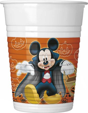 8 Becher Mickey Halloween