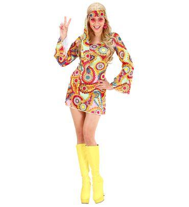 Hippie Girl Kleid mit Stirnband