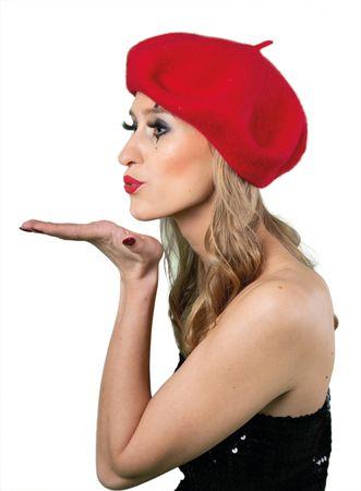 Barett Baskenmütze rot