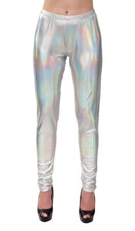 Space Leggings silber-holo – Bild 1