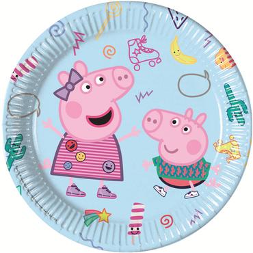 8 Teller Peppa Pig / Wutz