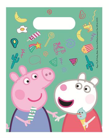 6 Party-Tüten Peppa Pig / Wutz
