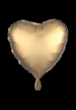 100 Folienballon Herz Satin gold 45cm
