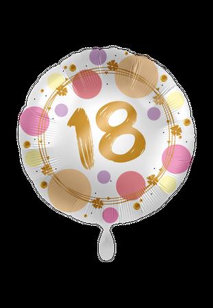 Folienballon Satin Shiny Dots 18