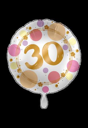 Folienballon Satin Shiny Dots 30