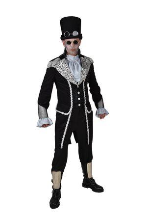Mantel Schlüssel schwarz-silber