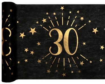 Tischläufer Vlies 30 schwarz-gold