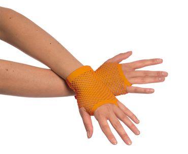 Netzhandschuhe kurz neonorange