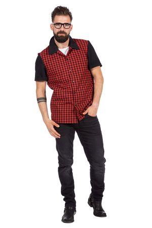 Rockabilly Hemd Bobby schwarz-rot-kariert – Bild 1
