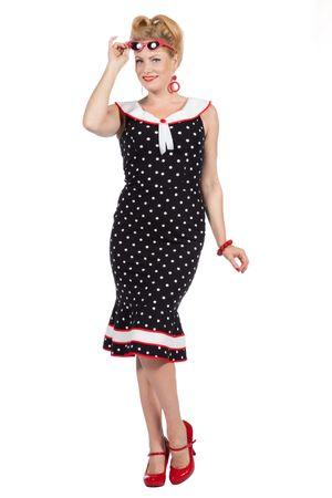 Rockabilly Kleid Betty Punkte 50er Jahre – Bild 1