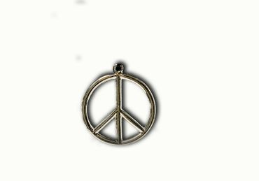 Peace-Amulett Metall gold – Bild 1