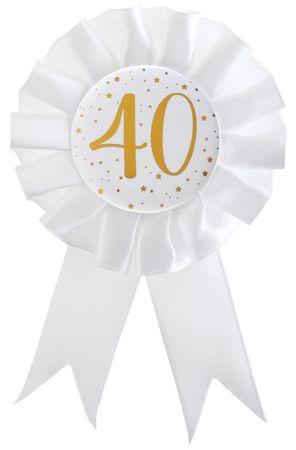 Anstecker / Rosette 40. Geburtstag – Bild 1