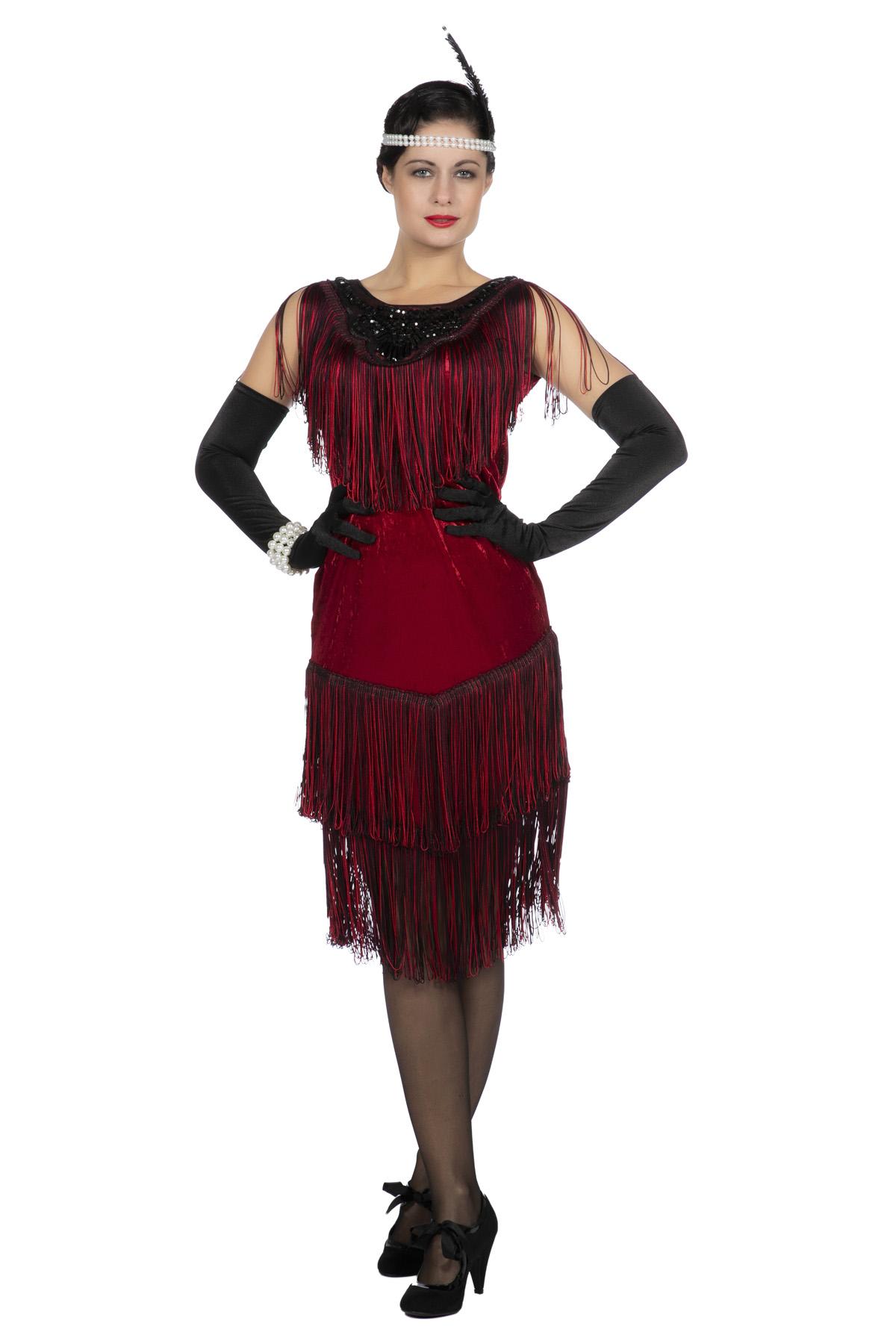 Charleston-Kleid Ruby 13er Jahre  Party Schlaudt GmbH  Kostüme  Deko   Stoffe