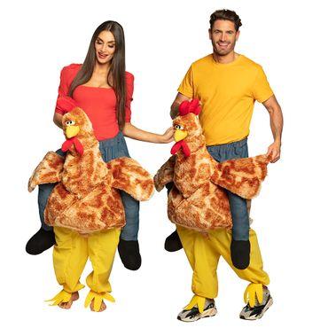 Huckepack-Kostüm Lustiges Huhn – Bild 2