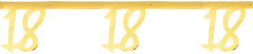 Girlande '18' gold – Bild 1