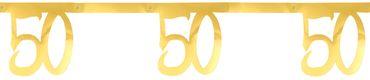 Girlande '50' gold – Bild 1