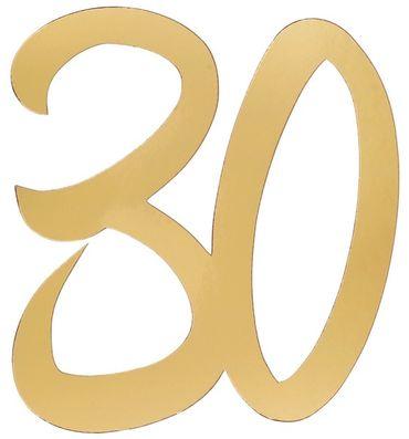 4 Deko-Zahlen '30' gold – Bild 1