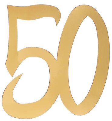 4 Deko-Zahlen '50' gold – Bild 1