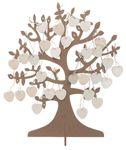 Wunsch-Baum mit 50 Herzen Gästebuch Hochzeit 001
