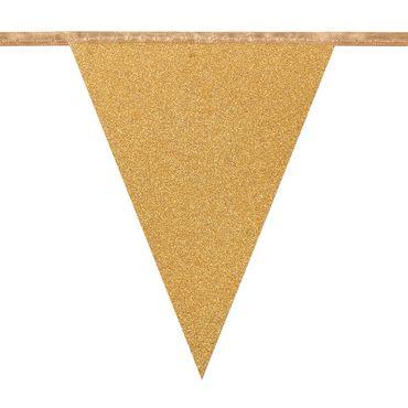 Wimpelkette Glitter gold – Bild 2