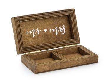 Eheringe Box aus Holz