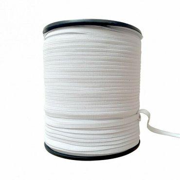 Elastikband Flach-Gummiband 4 mm weiß