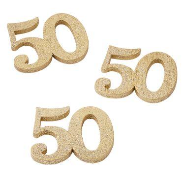 12 Holzstreuteile 50 gold