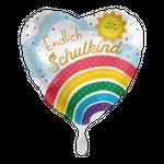 Folienballon Endlich Schulkind Regenbogen 001