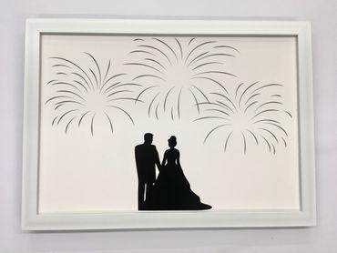 Gästebuch Hochzeit Fingerabdruck – Bild 2