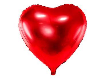 Folienballon Herz 61 cm rot