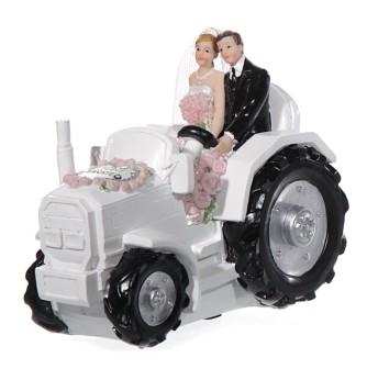 Spardose Brautpaar Traktor