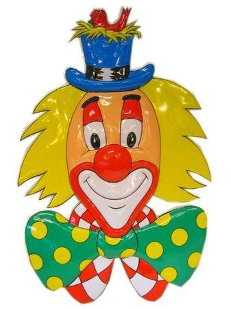 Wanddeko Clown mit Vogel