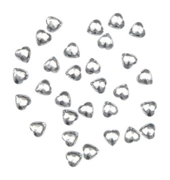 100 Acryl-Streu-Herzen klar – Bild 1