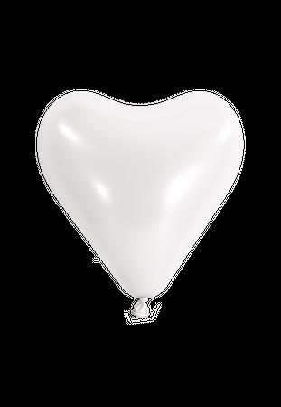 10 Herzballons Ø 30cm weiß