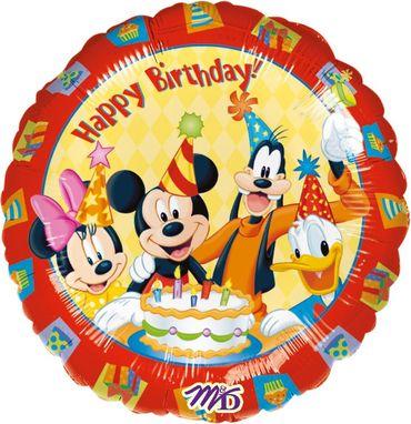 Folienballon Happy Birthday Mickey Mouse
