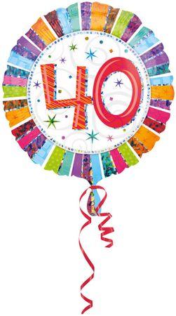 Folienballon Radiant Birthday 40
