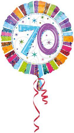 Folienballon Radiant Birthday 70