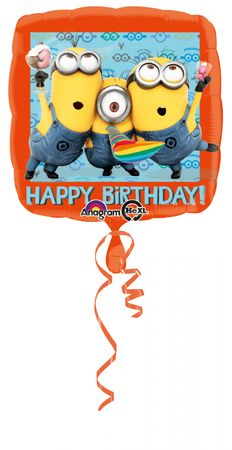 Folienballon Happy Birthday Minions