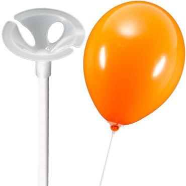 10 Ballonstäbe Plastik