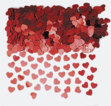 Folienkonfetti Sparkle Hearts rot