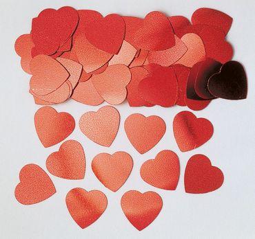 Folienkonfetti Jumbo Hearts rot